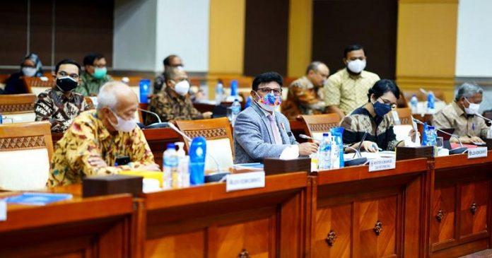 Raker Komisi I DPR dengan Kominfo, KPI Pusat, KIP Pusat, dan Dewan Pers Bahas Pagu Anggaran 2022